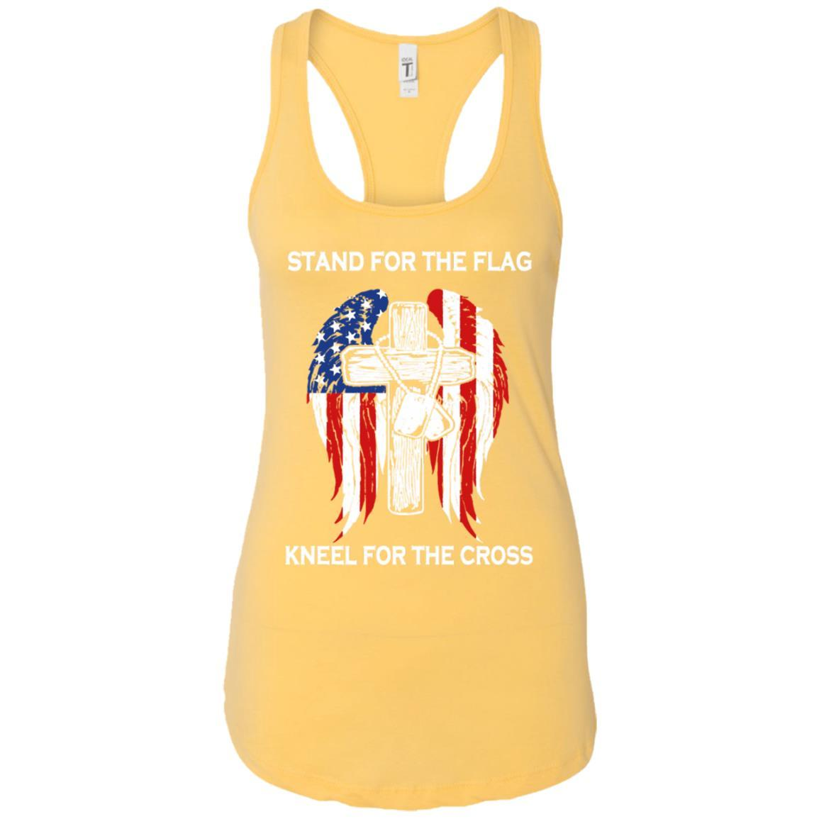 Stand For The Flag Kneel For The Cross - Ladies Ideal Racerback Tank Style / Color / Size