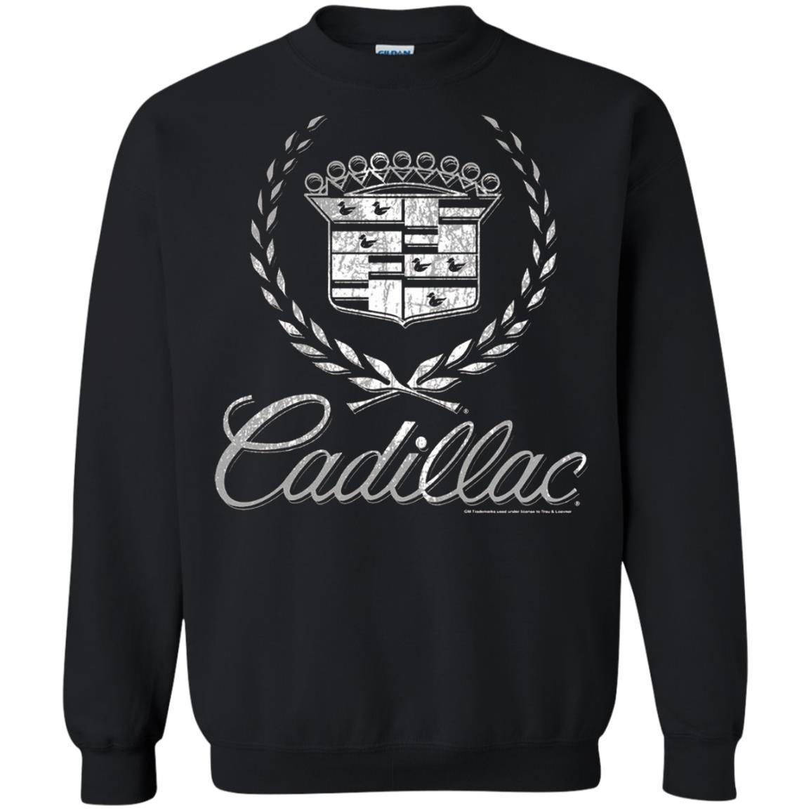 Cadillac Logo T-Shirt Classic Look - Pullover Sweatshirt Style / Color / Size