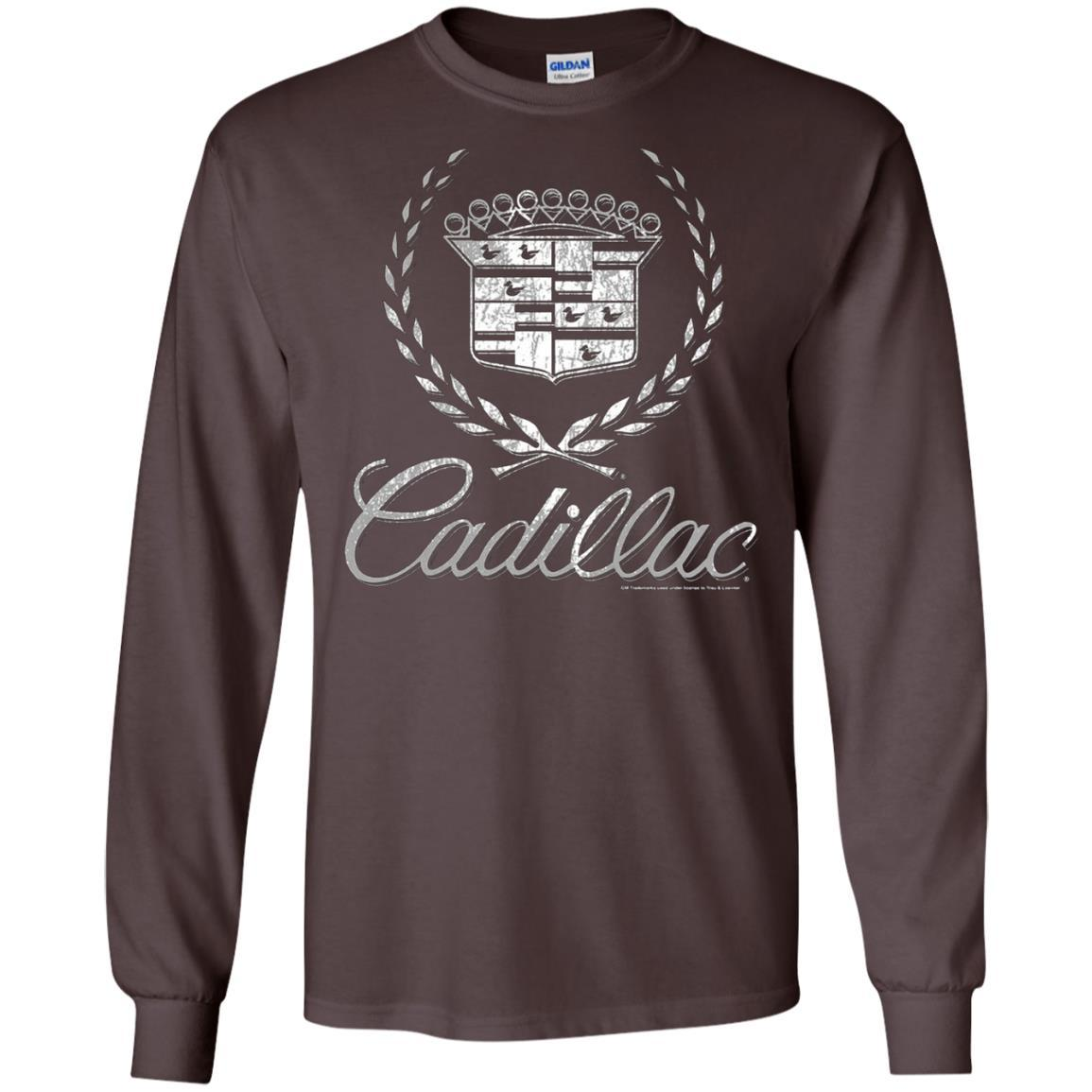 Cadillac Logo T-Shirt Classic Look - LS T-Shirt Style / Color / Size