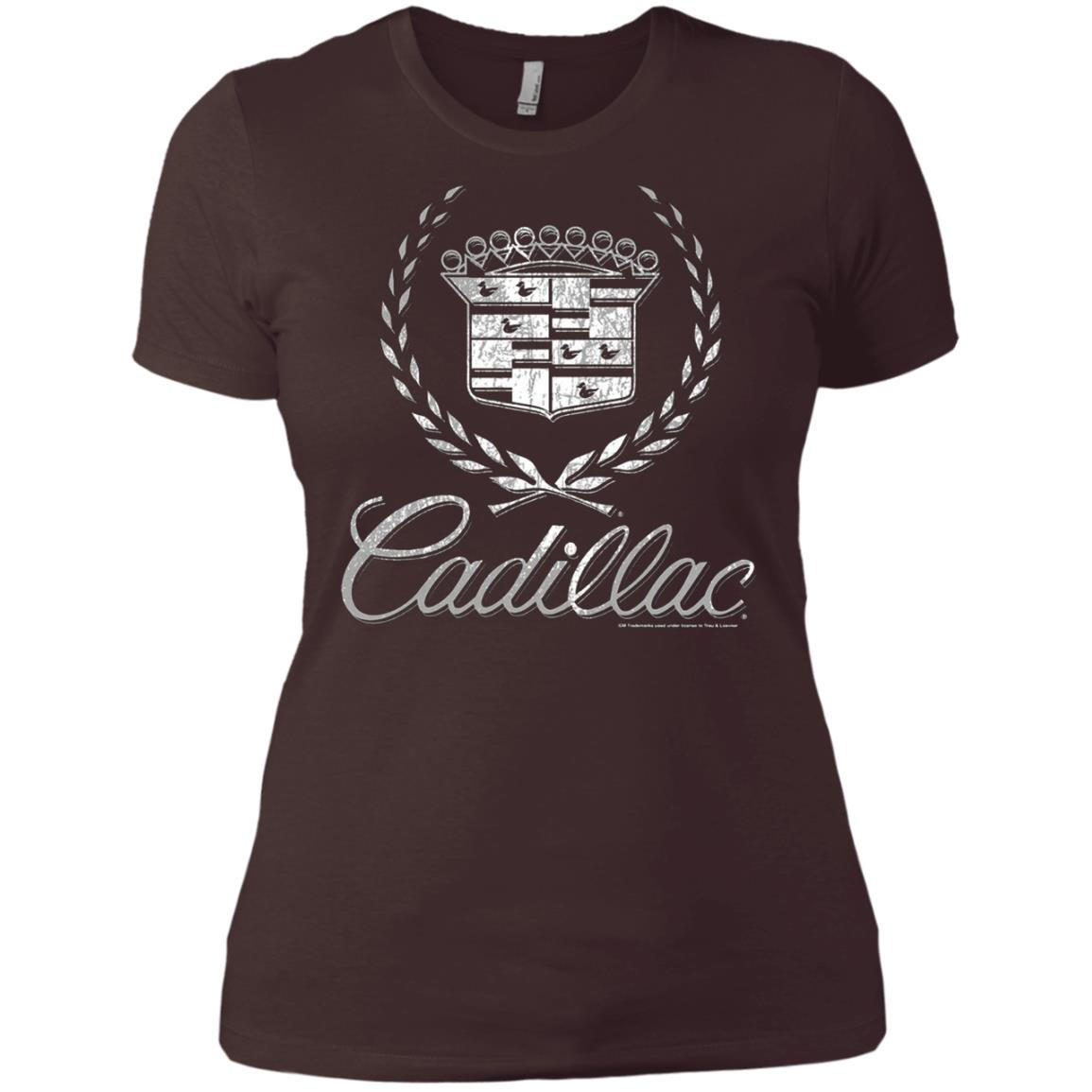 Cadillac Logo T-Shirt Classic Look - Ladies' Boyfriend T-Shirt Style / Color / Size