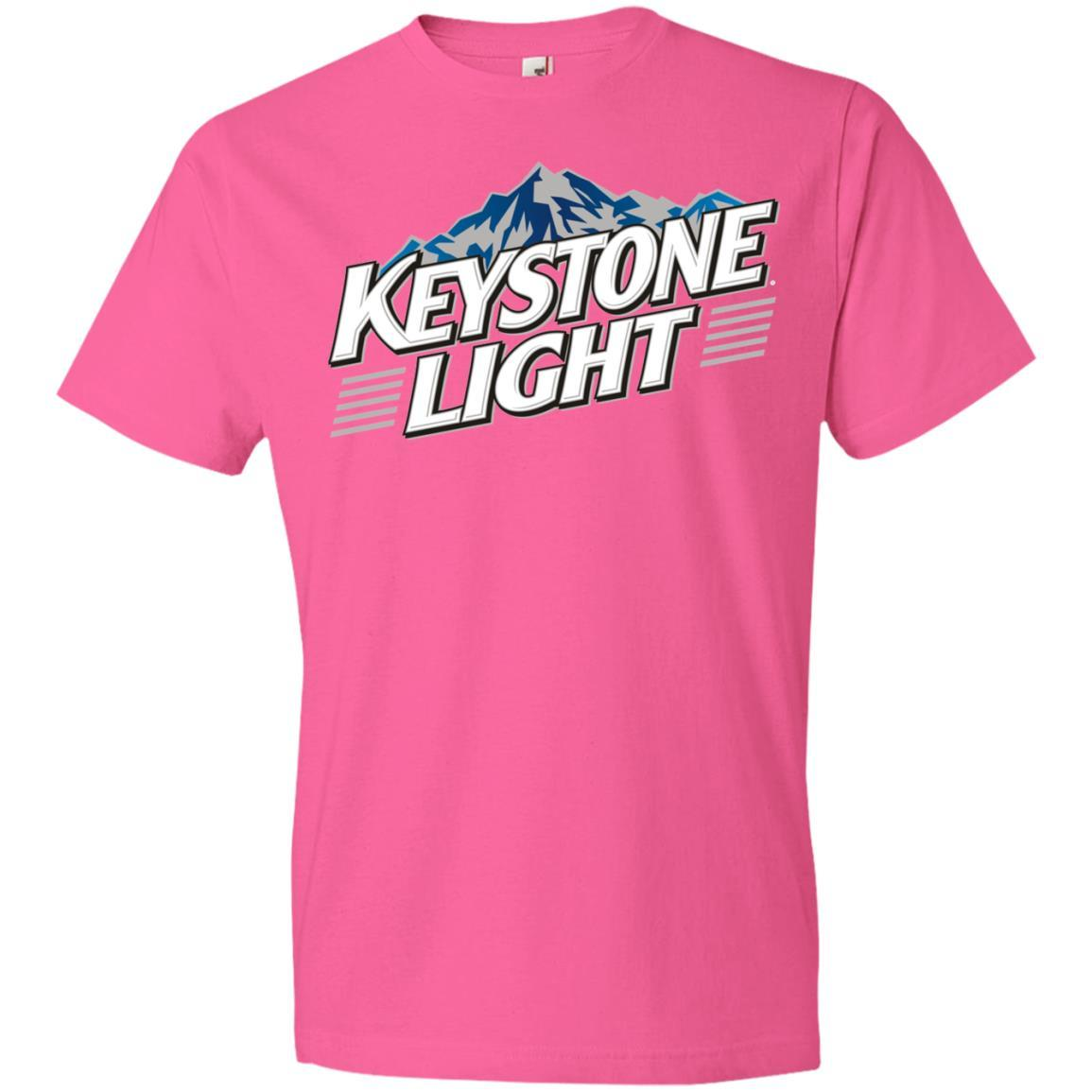 Keystone Light Beer - Anvil Lightweight T-Shirt Style / Color / Size