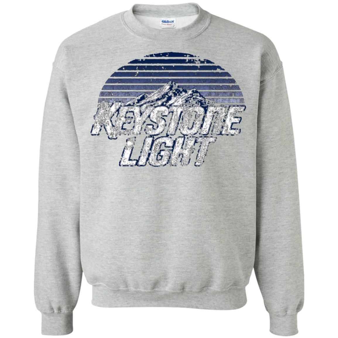 Keystone Light Beer Classic Look - Pullover Sweatshirt Sport Grey / 5XL