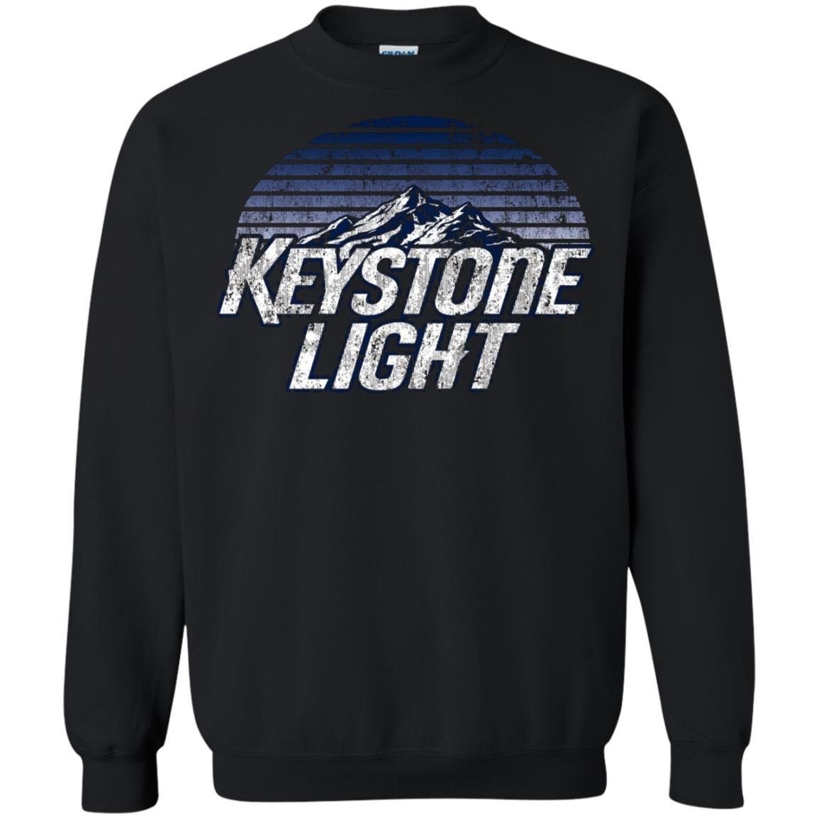 Keystone Light Beer Classic Look - Pullover Sweatshirt Black / 5XL