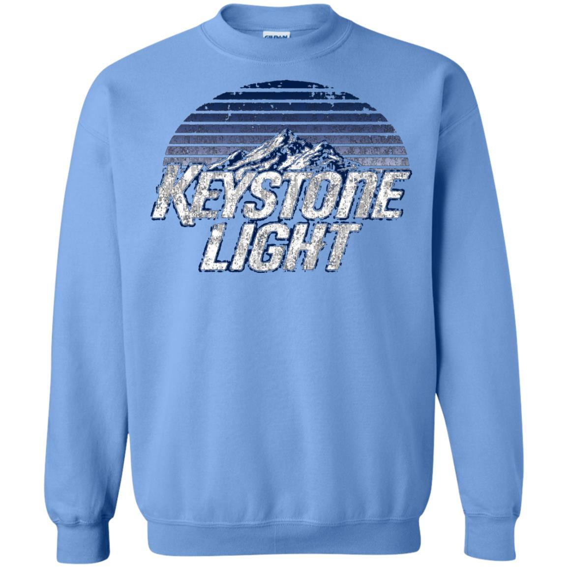 Keystone Light Beer Classic Look - Pullover Sweatshirt Carolina Blue / 5XL