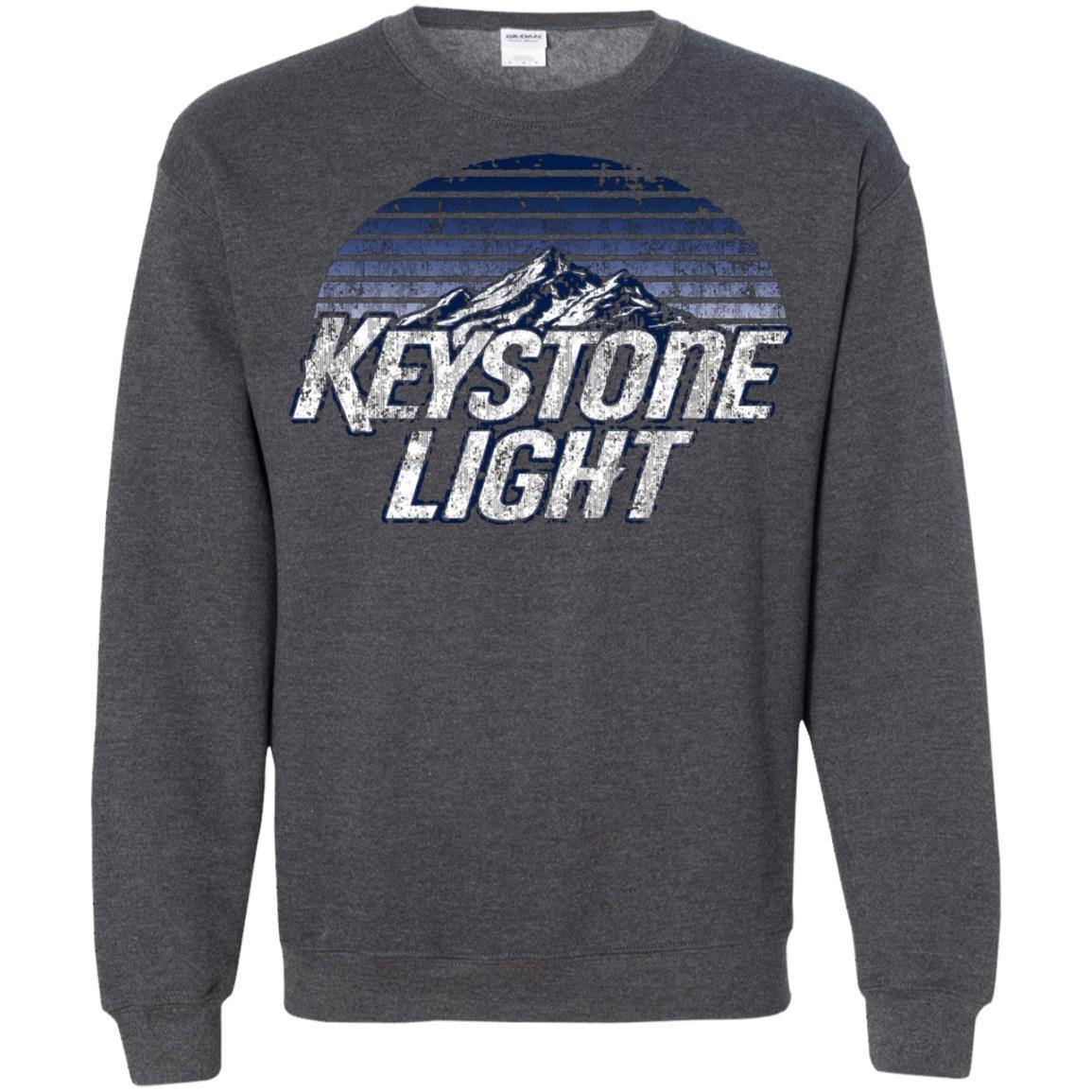 Keystone Light Beer Classic Look - Pullover Sweatshirt Dark Heather / 5XL