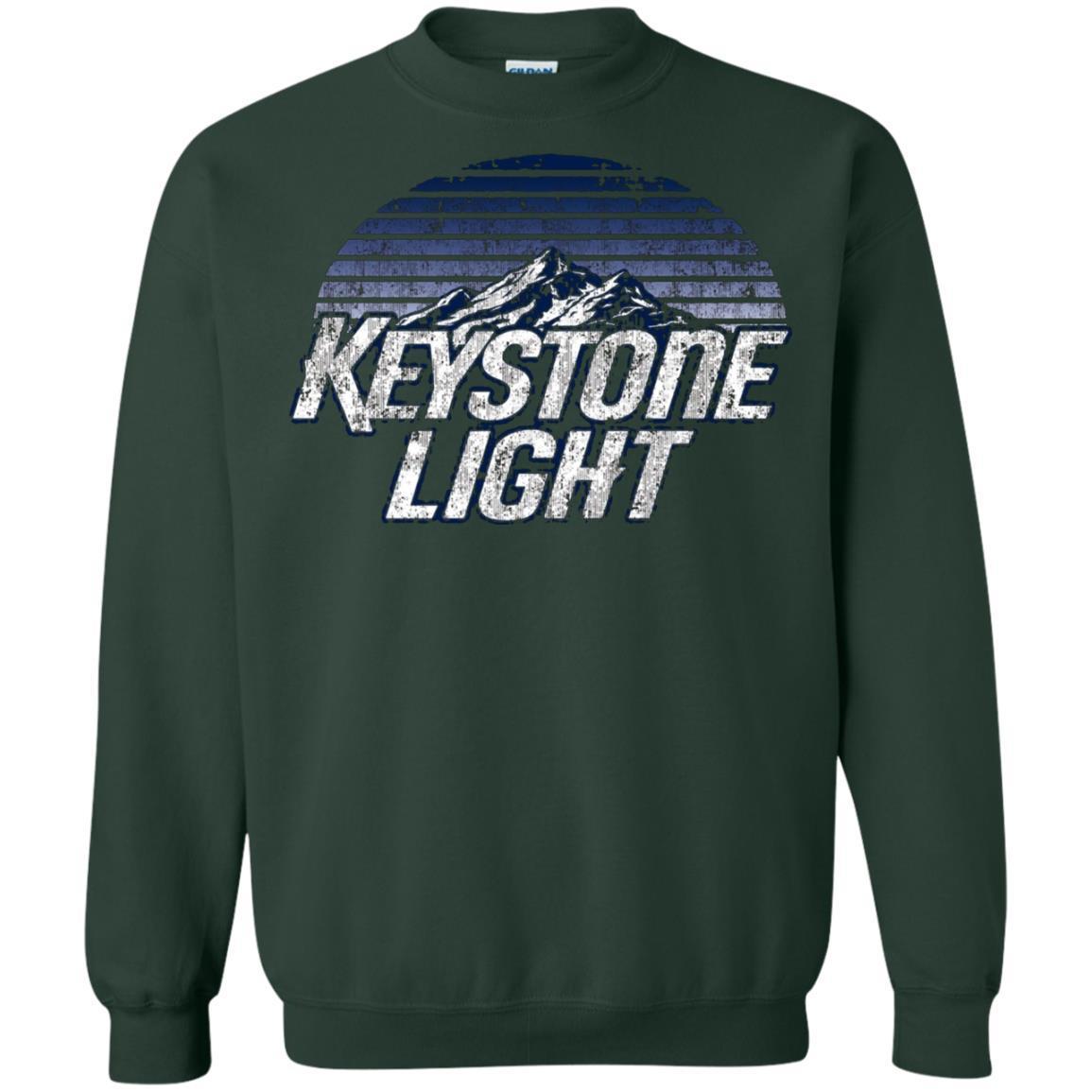 Keystone Light Beer Classic Look - Pullover Sweatshirt Forest Green / 5XL