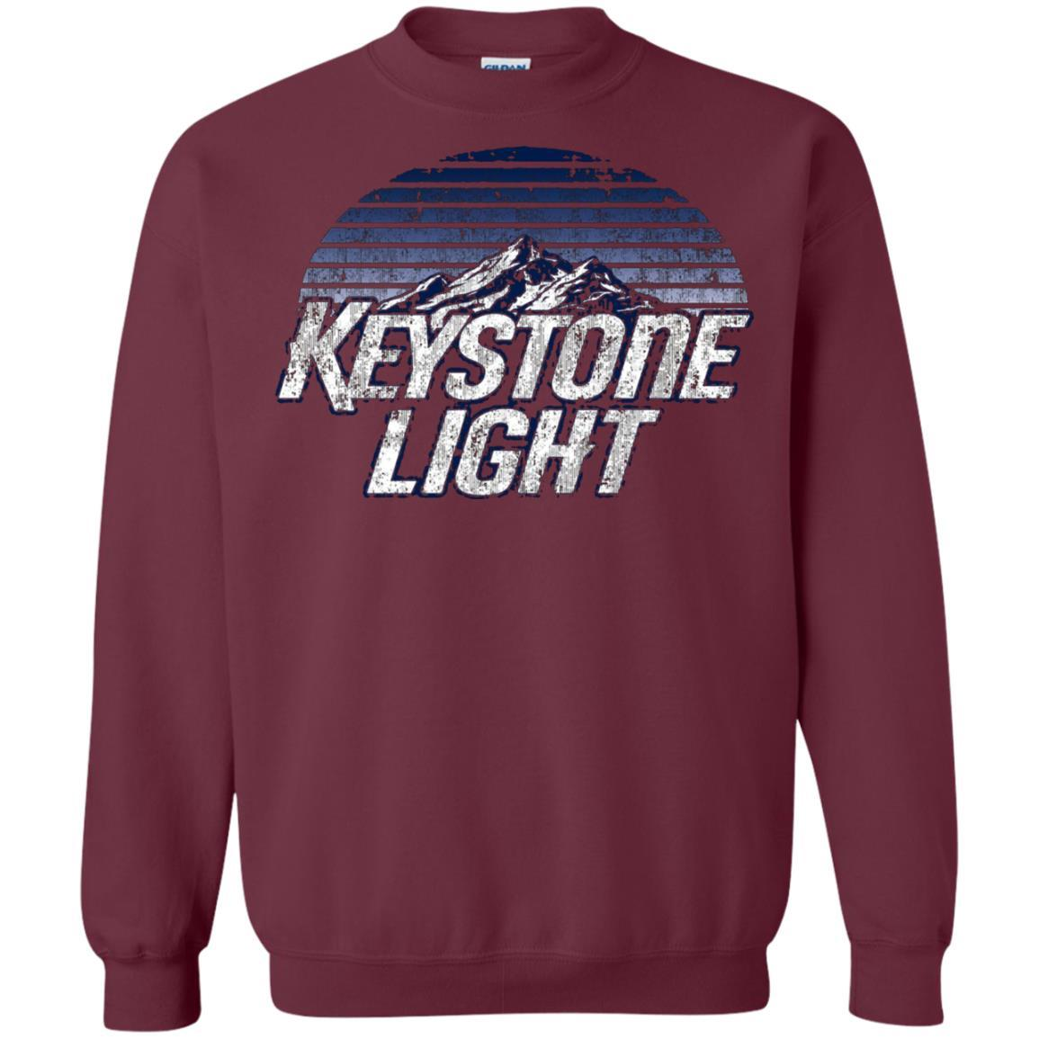 Keystone Light Beer Classic Look - Pullover Sweatshirt Maroon / 5XL