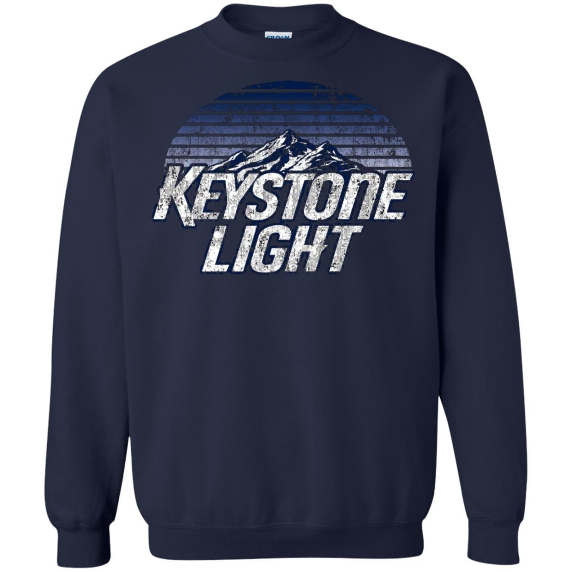 Keystone Light Beer Classic Look - Pullover Sweatshirt Navy / 5XL