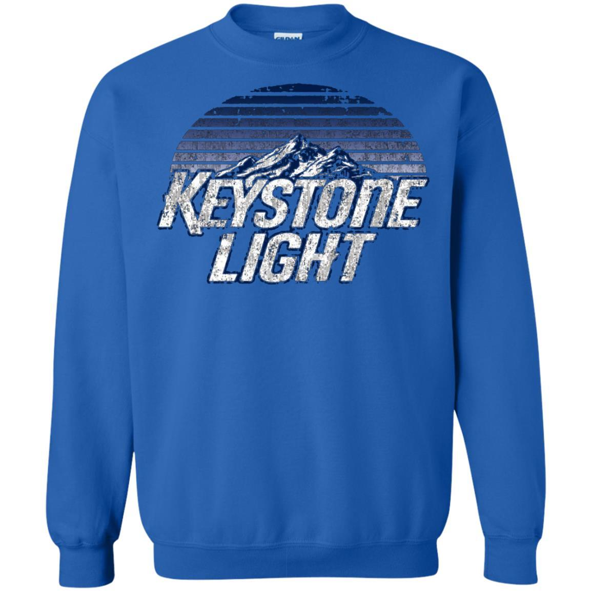 Keystone Light Beer Classic Look - Pullover Sweatshirt Royal / 5XL