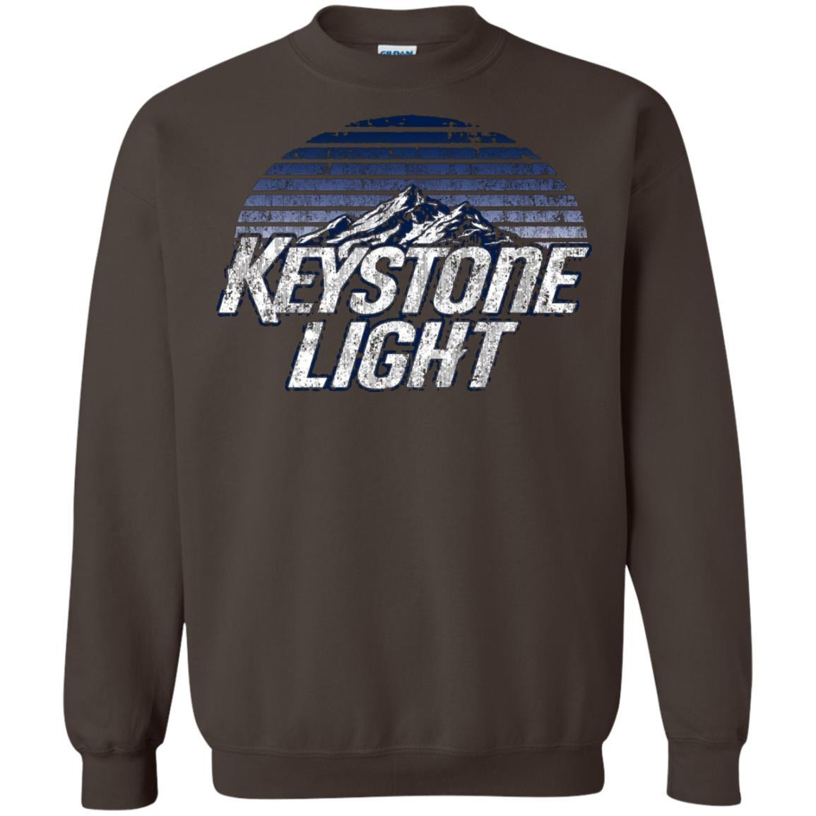 Keystone Light Beer Classic Look - Pullover Sweatshirt Dark Chocolate / 5XL
