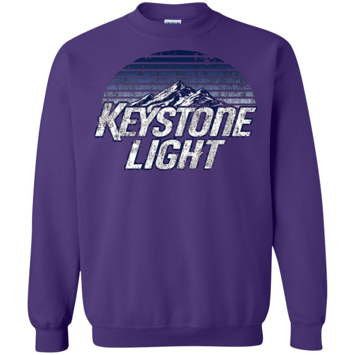 Keystone Light Beer Classic Look - Pullover Sweatshirt Purple / 5XL