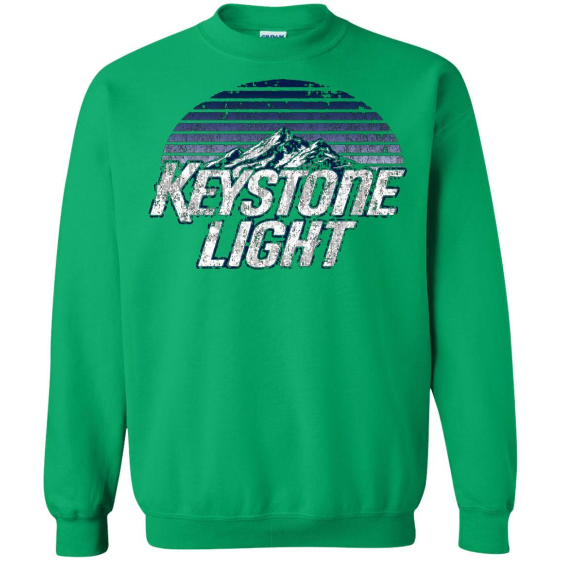 Keystone Light Beer Classic Look - Pullover Sweatshirt Irish Green / 5XL