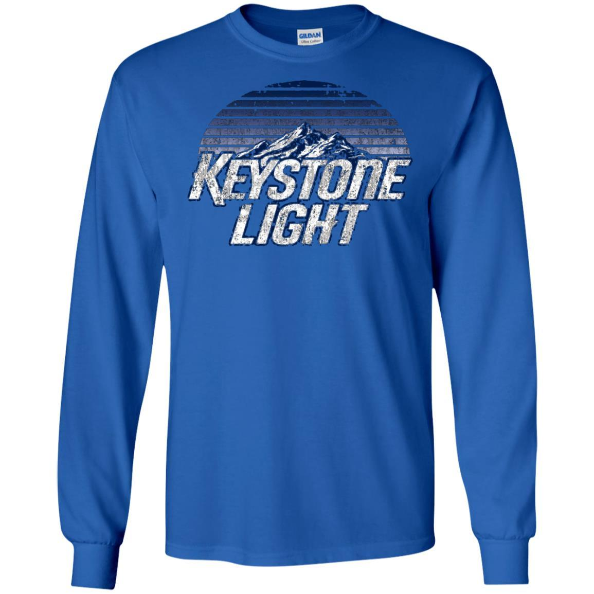 Keystone Light Beer Classic Look - LS T-Shirt Style / Color / Size