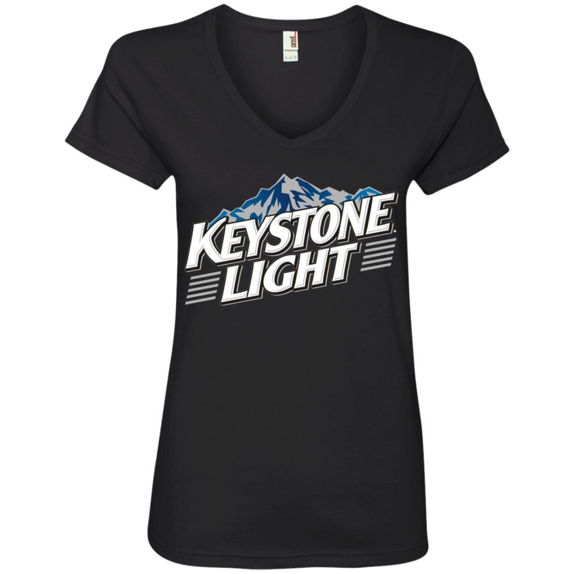 Keystone Light Beer - Ladies' V-Neck T-Shirt Style / Color / Size