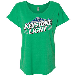 Keystone Light Beer – Ladies' Triblend Dolman Sleeve