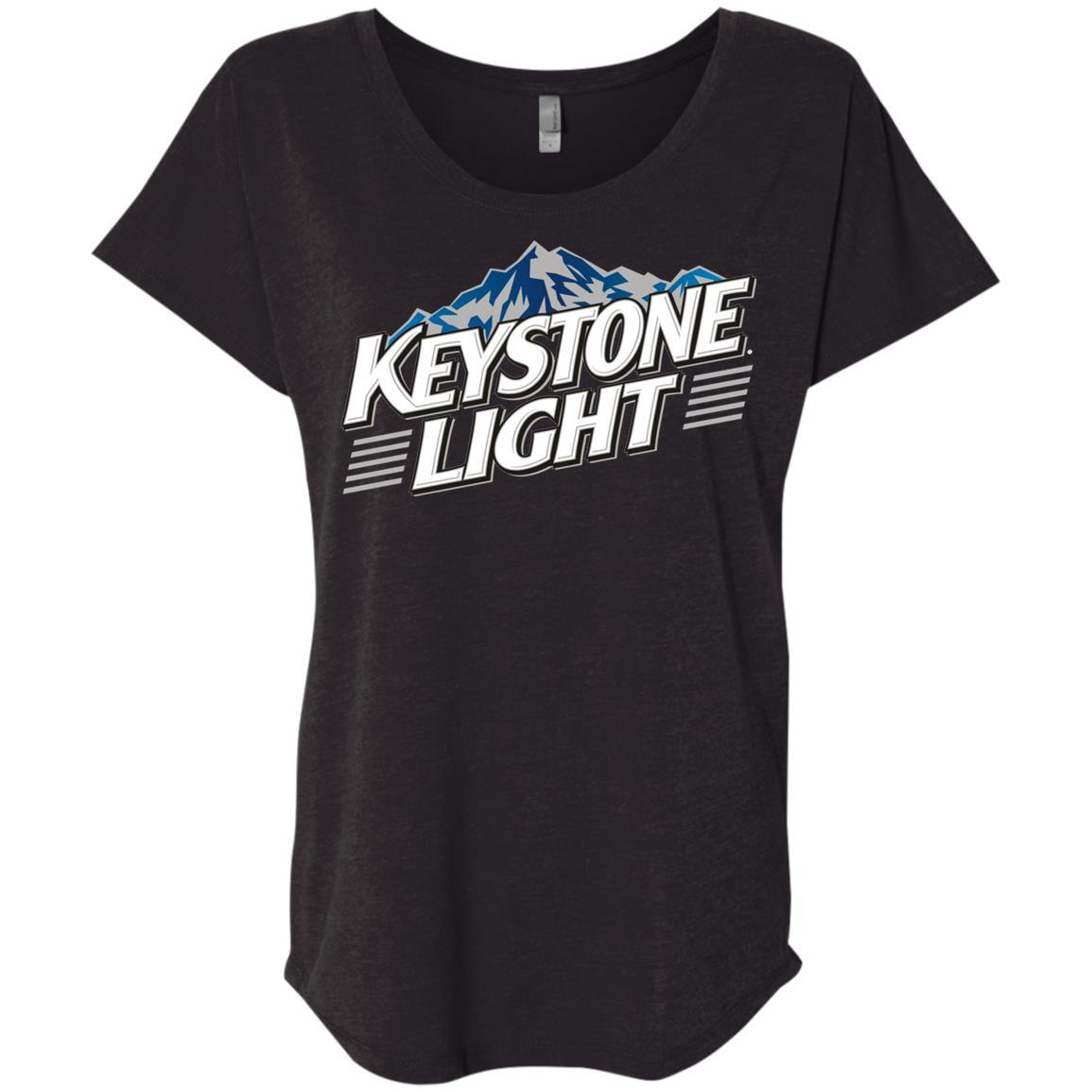 Keystone Light Beer - Ladies' Triblend Dolman Sleeve Style / Color / Size