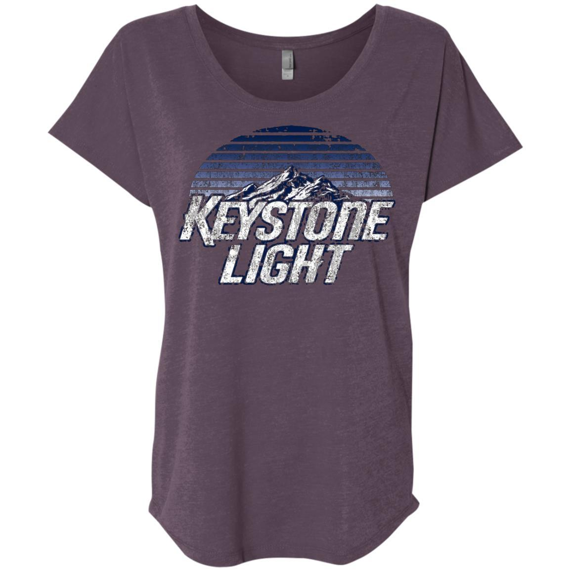 Keystone Light Beer Classic Look - Ladies' Triblend Dolman Sleeve Style / Color / Size