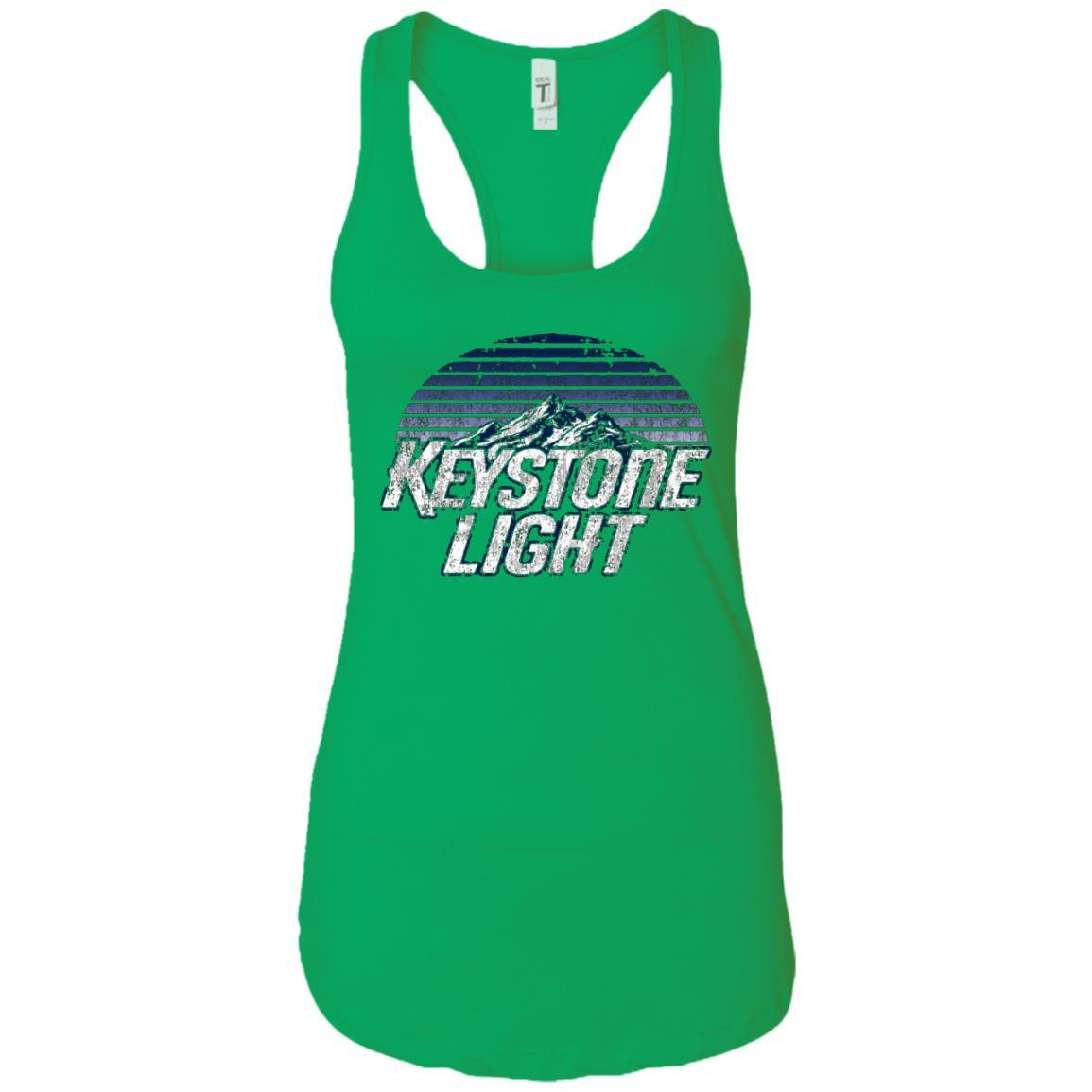 Keystone Light Beer Classic Look - Ladies Ideal Racerback Tank Style / Color / Size