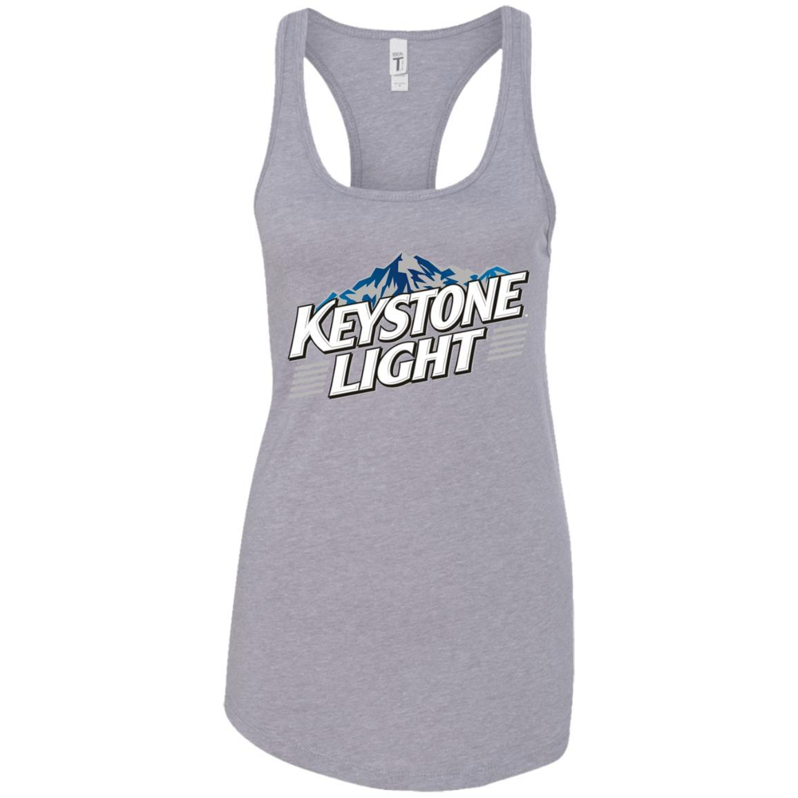 Keystone Light Beer - Ladies Ideal Racerback Tank Style / Color / Size