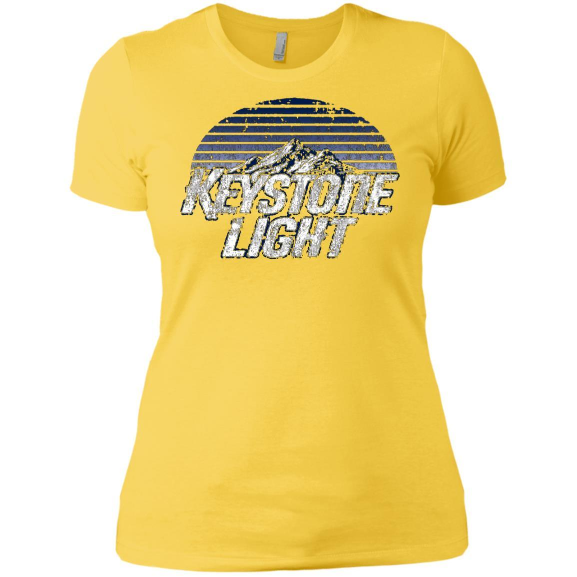 Keystone Light Beer Classic Look - Ladies' Boyfriend T-Shirt Style / Color / Size