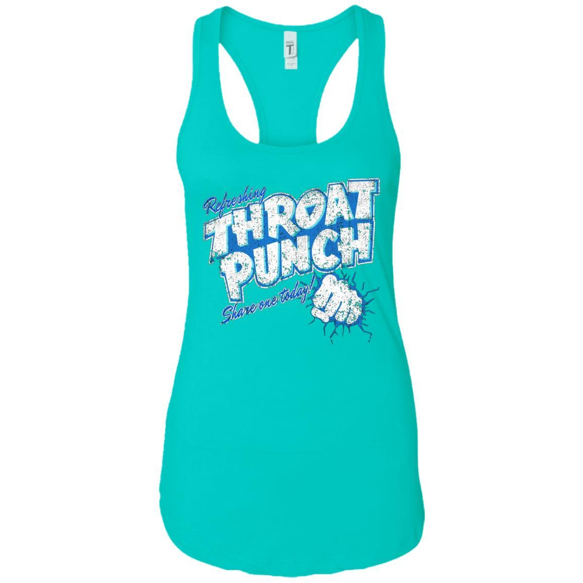 Refreshing Throat Punch Grunge - Ladies Ideal Racerback Tank Style / Color / Size