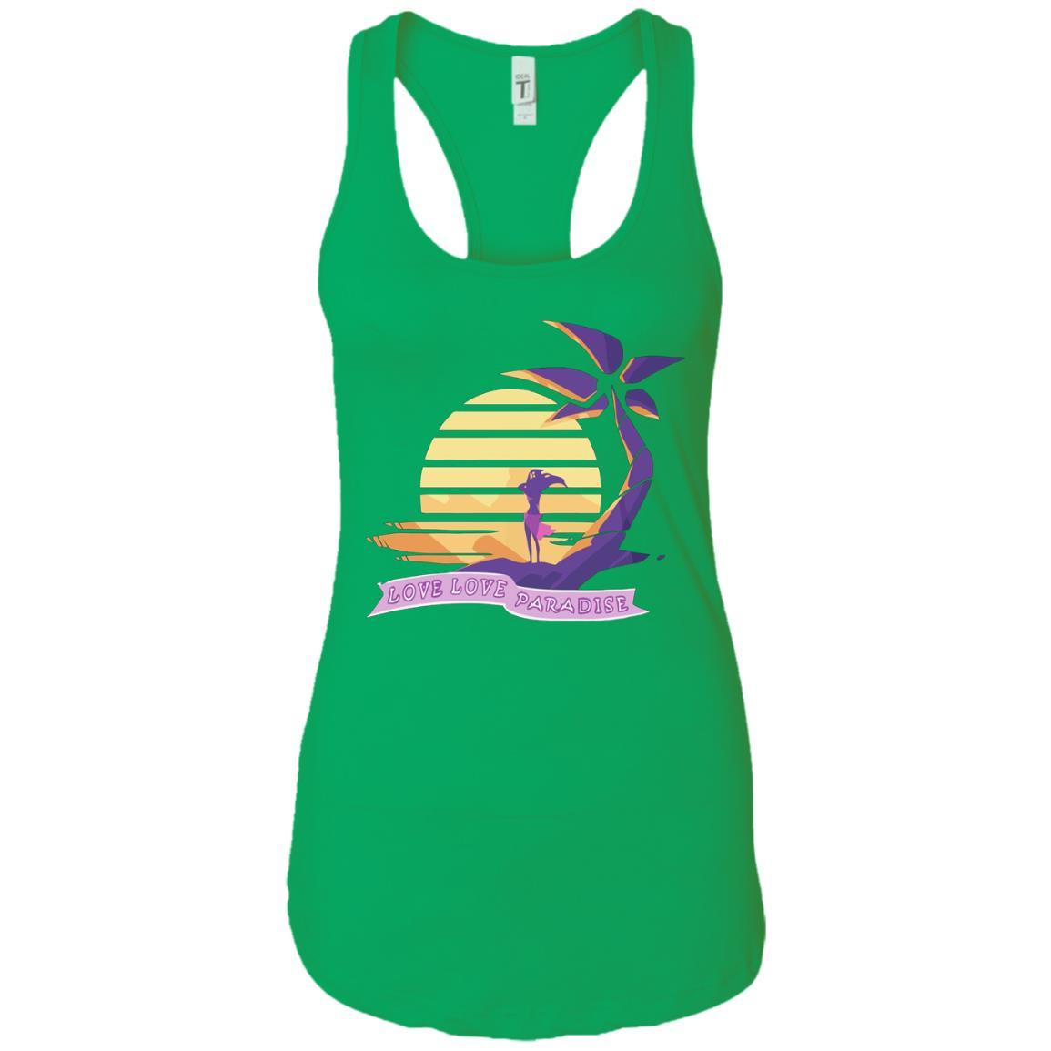 Aphmau Love - Love Paradise - Ladies Ideal Racerback Tank Style / Color / Size