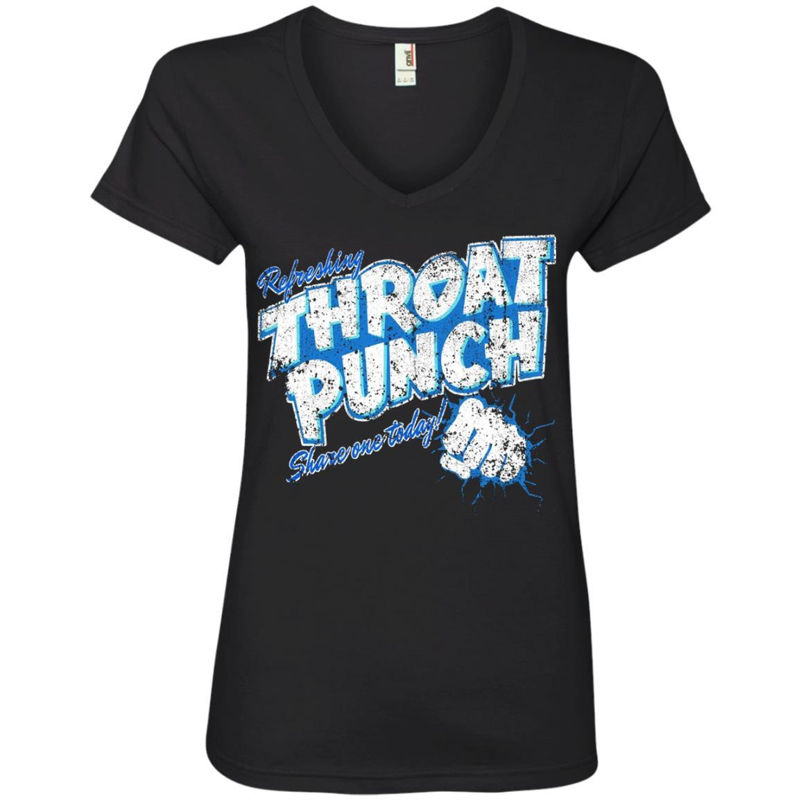 Refreshing Throat Punch Grunge - Ladies' V-Neck T-Shirt