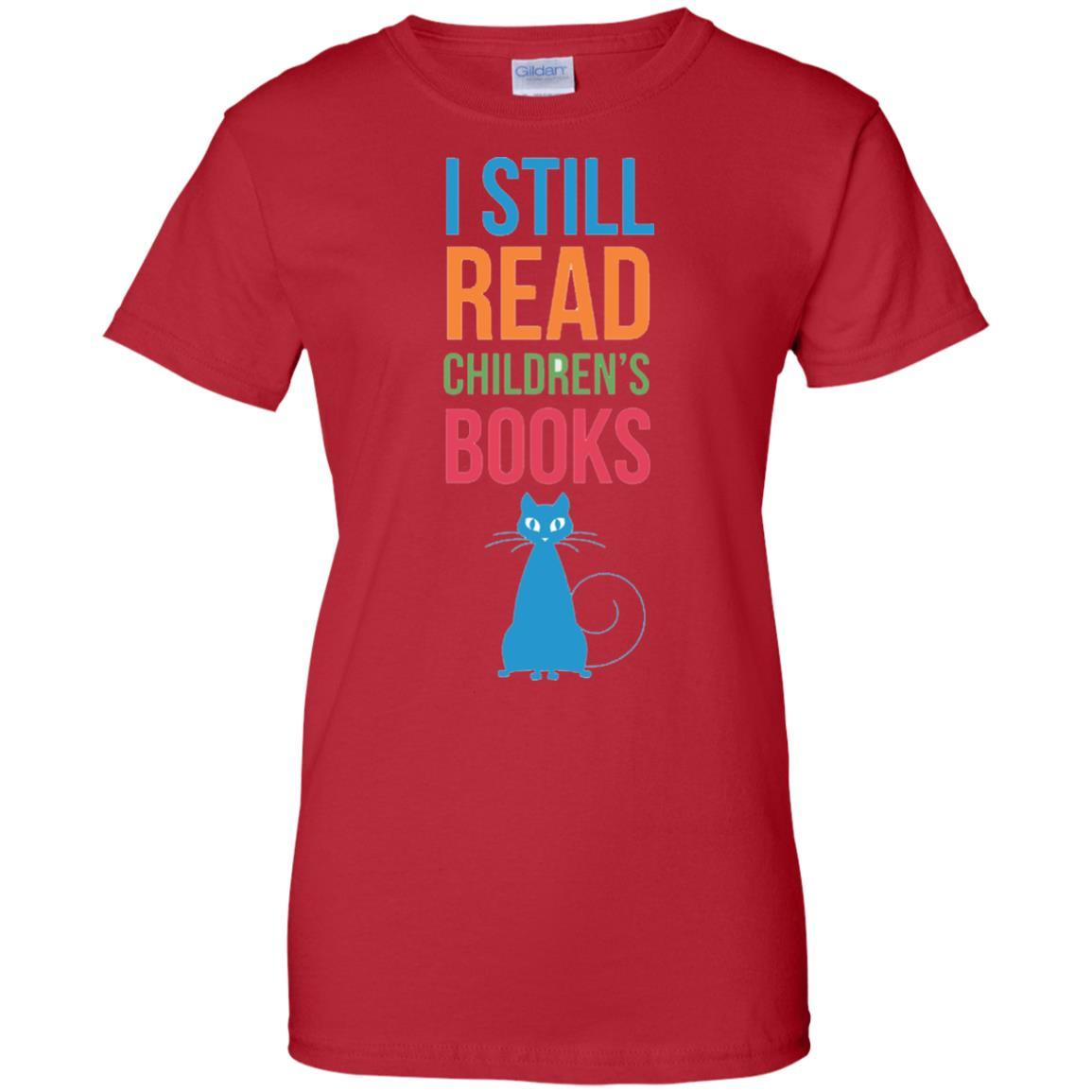 I Still Read Childrens Books Cat T-Shirt