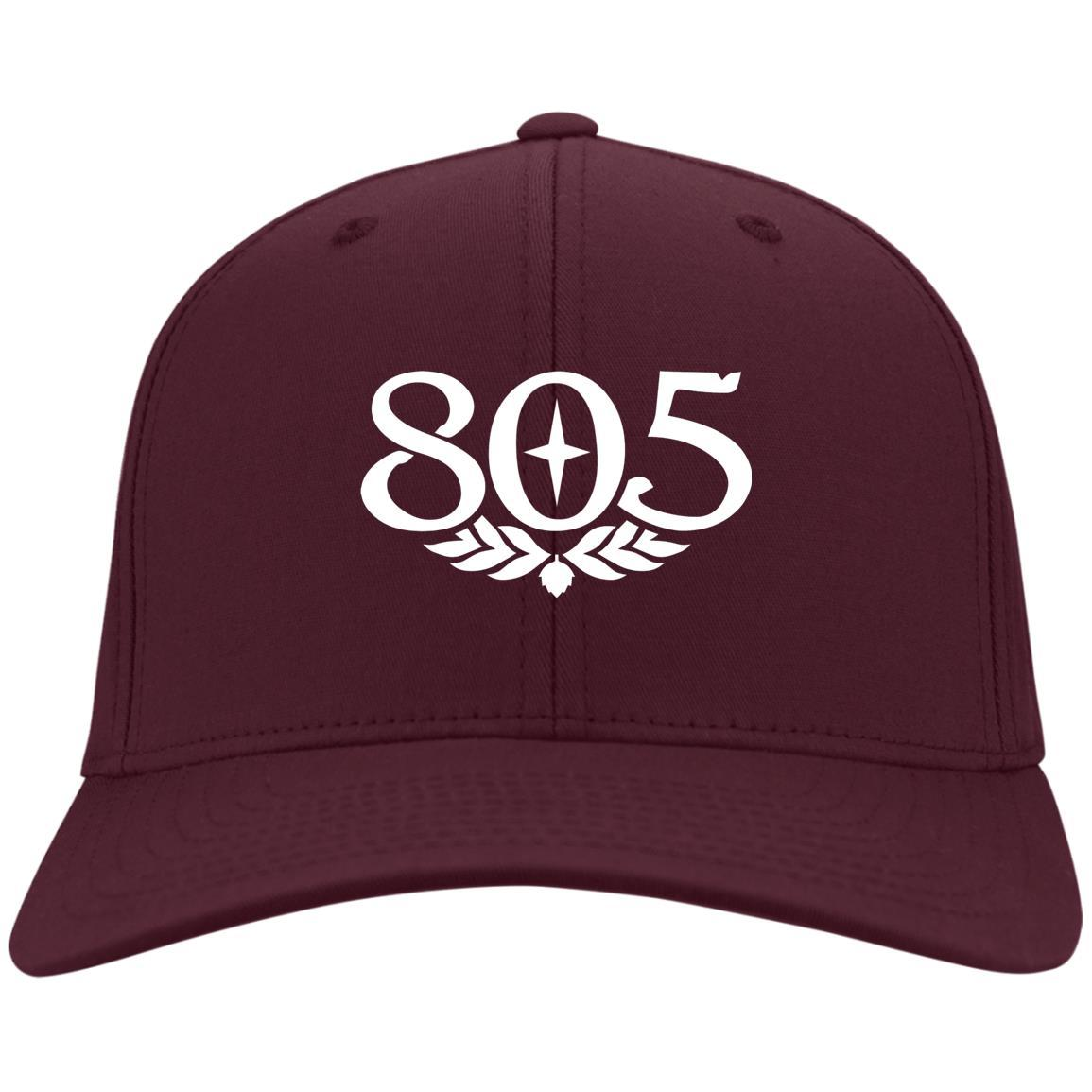 805 Beer - Port & Co. Twill Cap Maroon