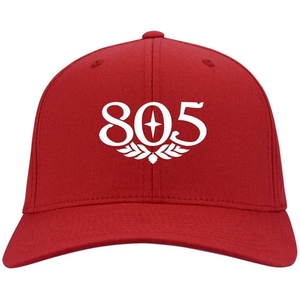 805 Beer - Port & Co. Twill Cap Red