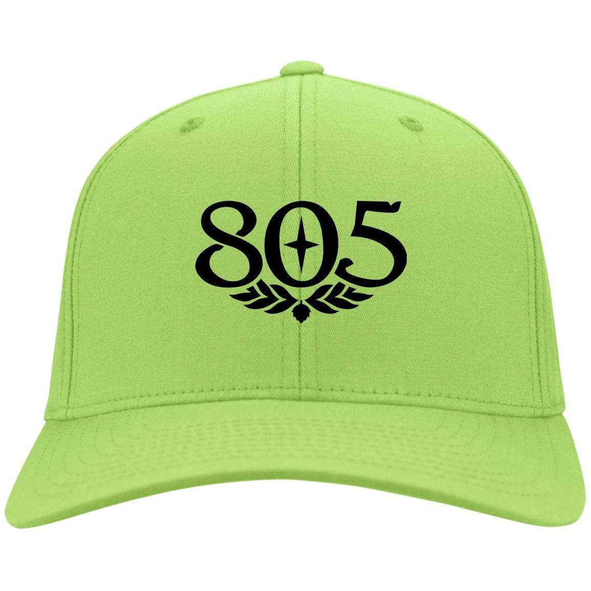 805 Beer Black - Port & Co. Twill Cap Lime