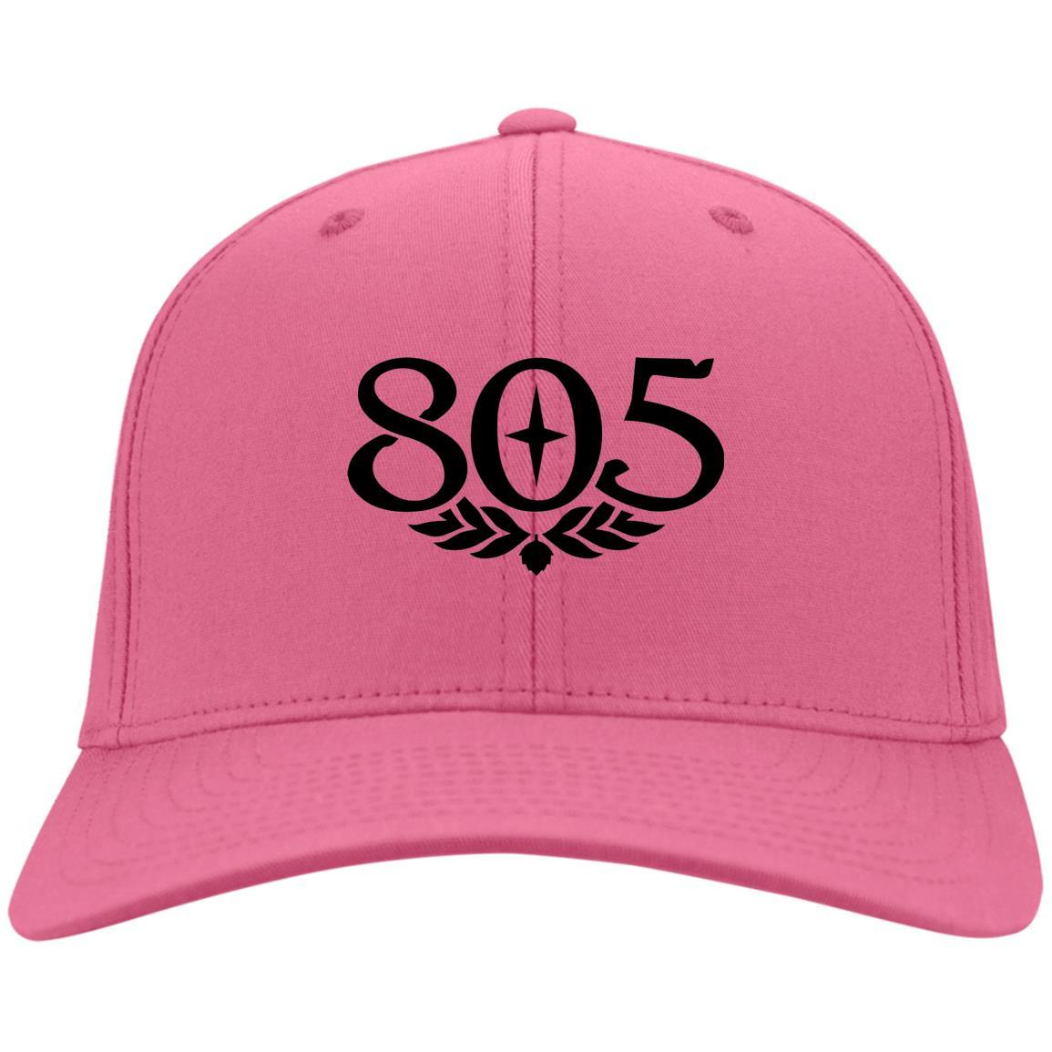 805 Beer Black - Port & Co. Twill Cap Neon Pink