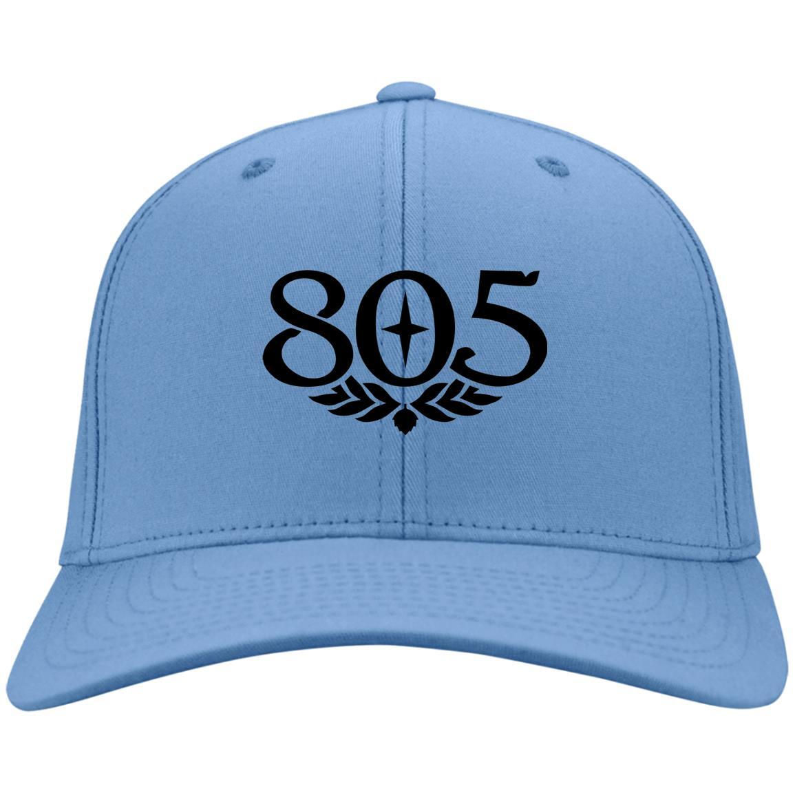 805 Beer Black - Port & Co. Twill Cap Carolina Blue