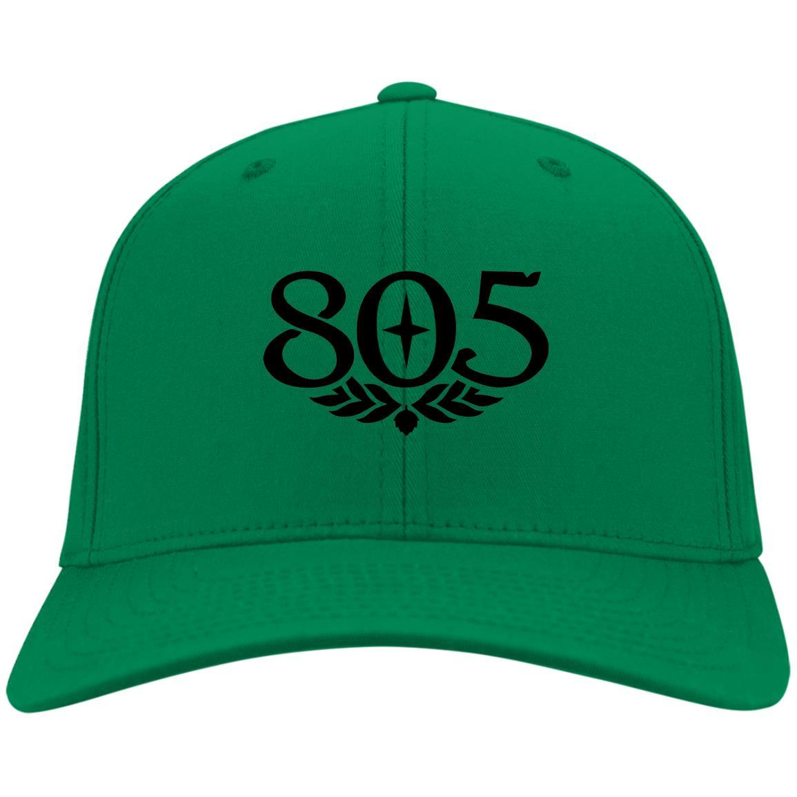 805 Beer Black - Port & Co. Twill Cap Kelly Green