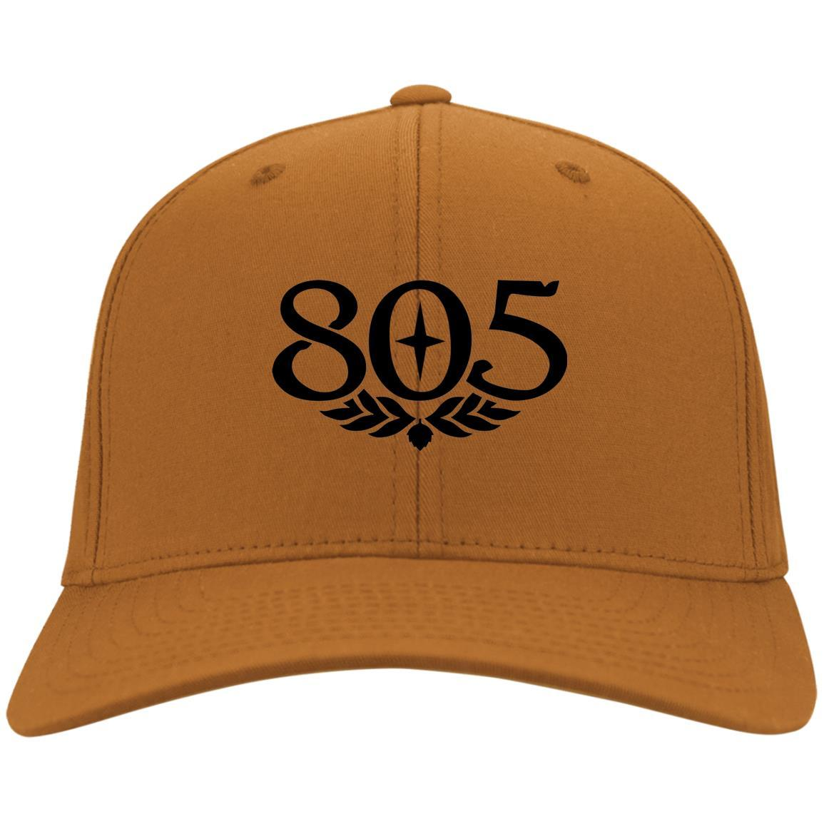 805 Beer Black - Port & Co. Twill Cap Texas Orange