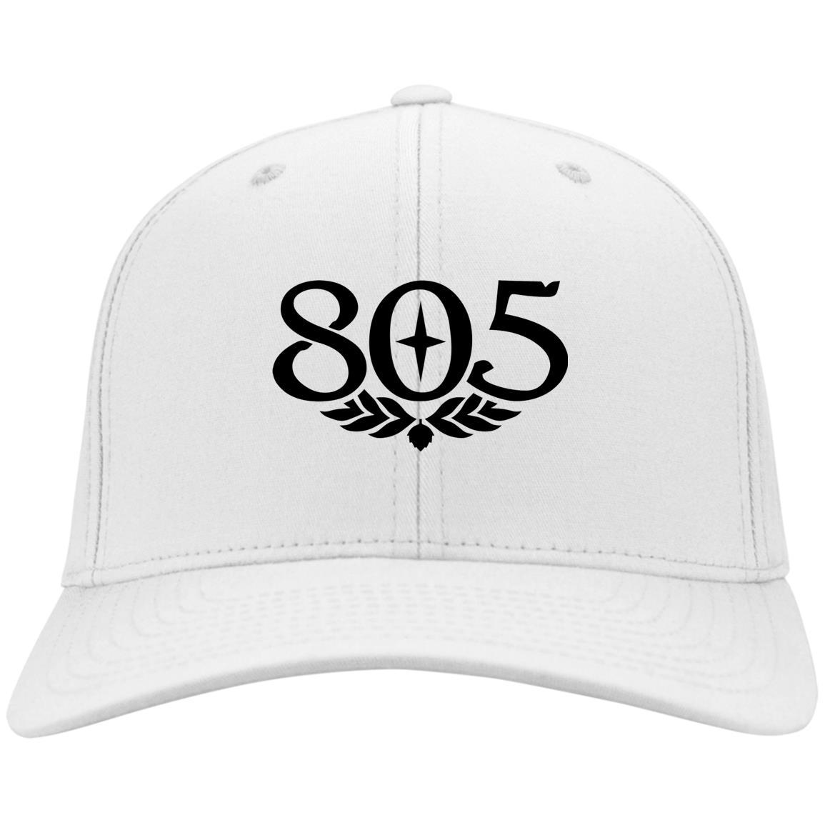 805 Beer Black - Port & Co. Twill Cap White