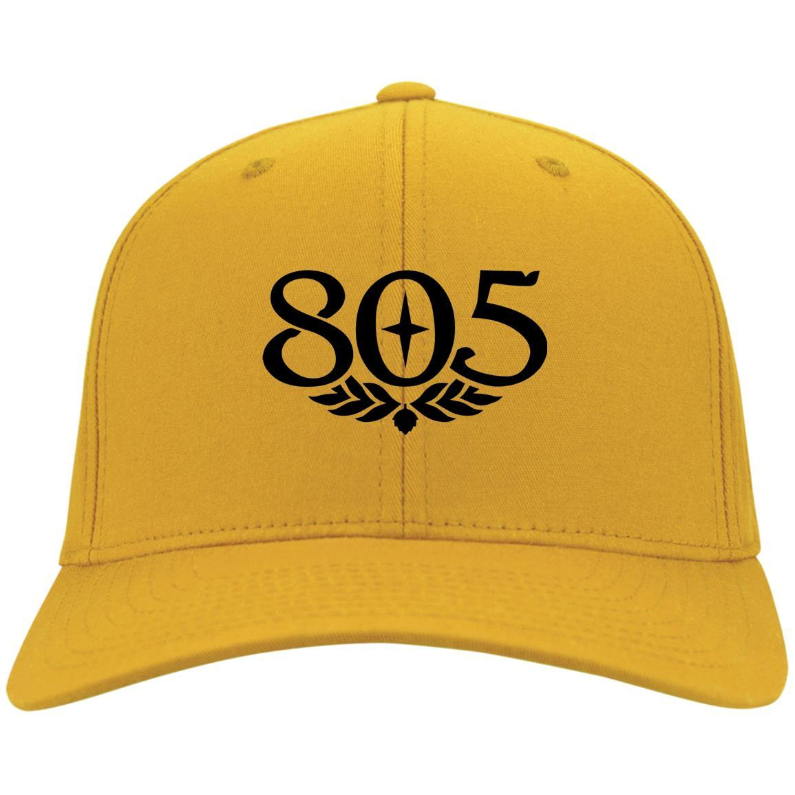 805 Beer Black - Port & Co. Twill Cap Gold