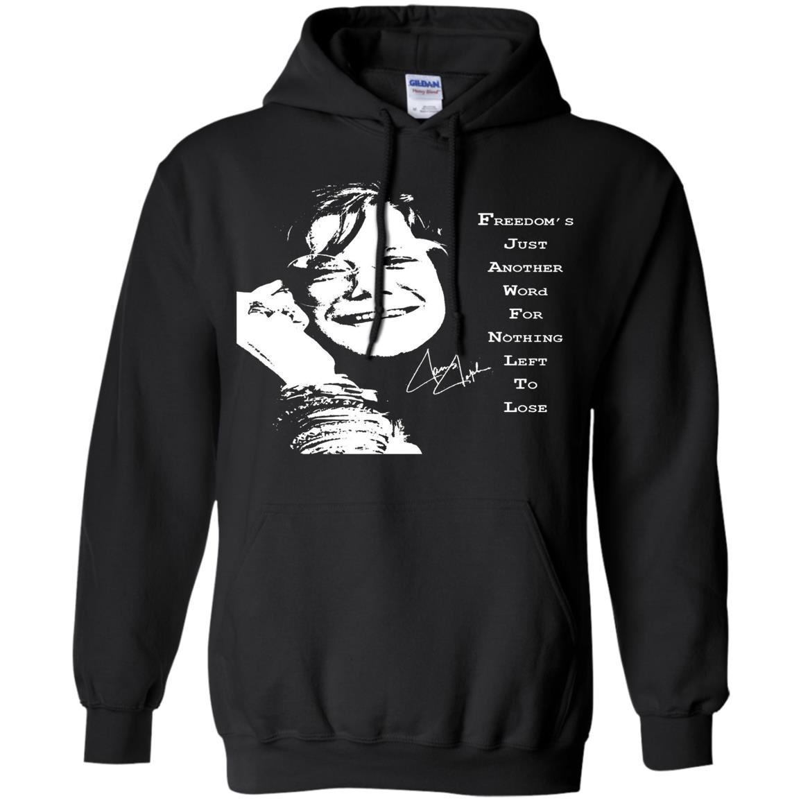 JANIS JOPLIN SHIRTS FOR FANS - Pullover Hoodie Black / 5XL