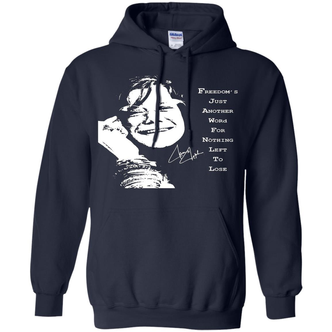 JANIS JOPLIN SHIRTS FOR FANS - Pullover Hoodie Navy / 5XL
