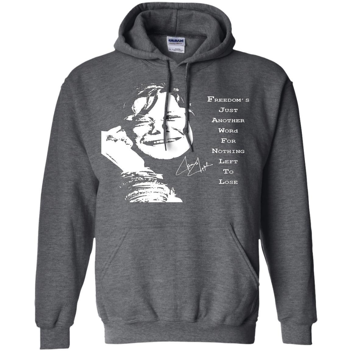 JANIS JOPLIN SHIRTS FOR FANS - Pullover Hoodie Dark Heather / 5XL