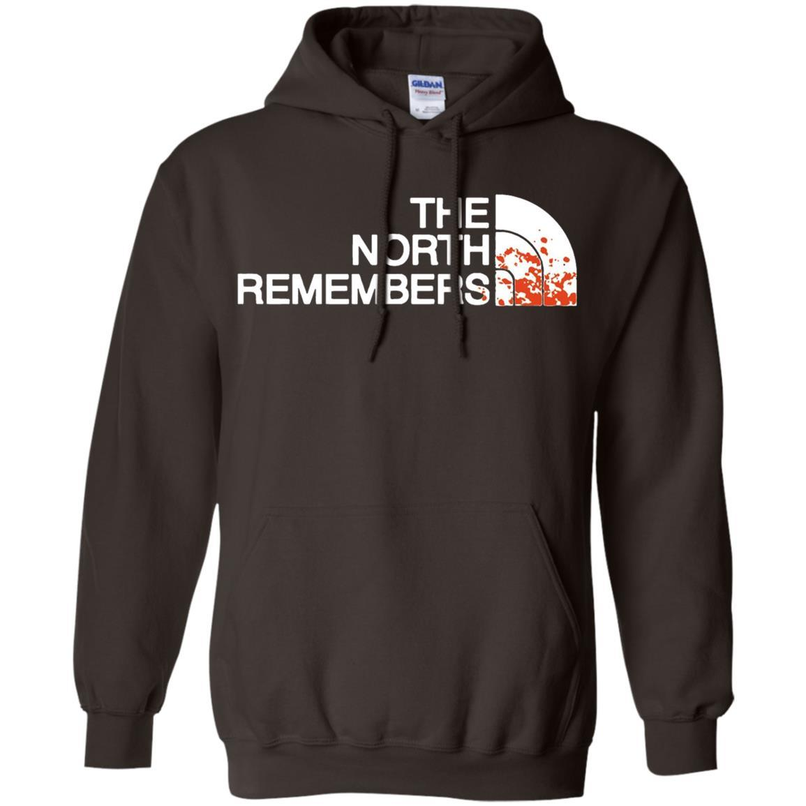 The North Remembers North Face Got - Pullover Hoodie Dark Chocolate / 5XL