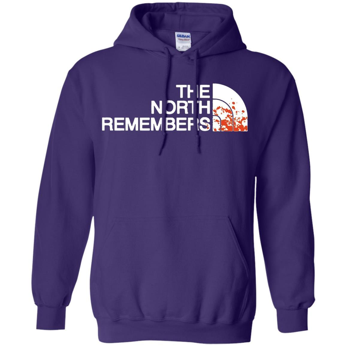 The North Remembers North Face Got - Pullover Hoodie Purple / 5XL