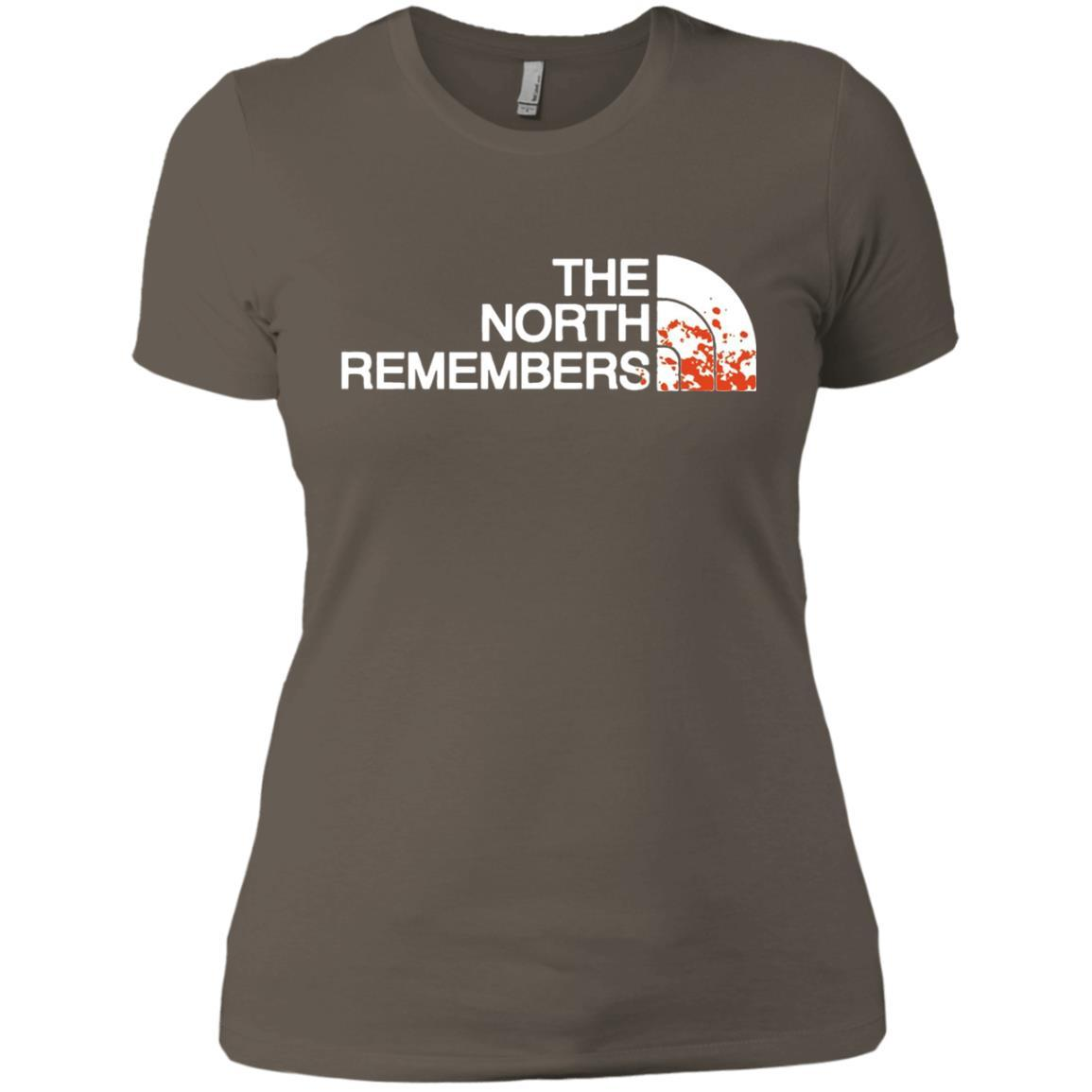 The North Remembers North Face Got - Ladies' Boyfriend T-Shirt Warm Grey / 3XL