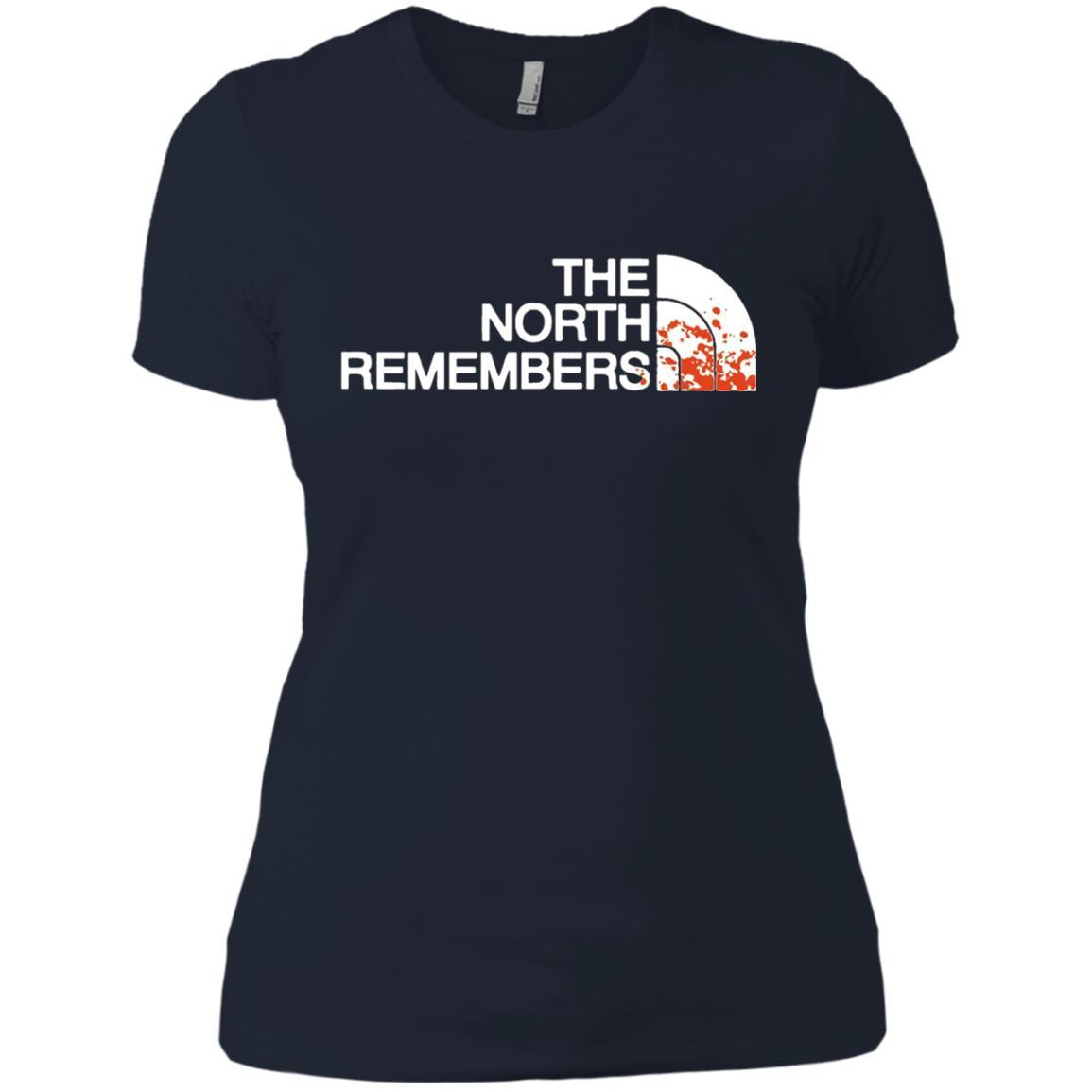 The North Remembers North Face Got - Ladies' Boyfriend T-Shirt Midnight Navy / 3XL