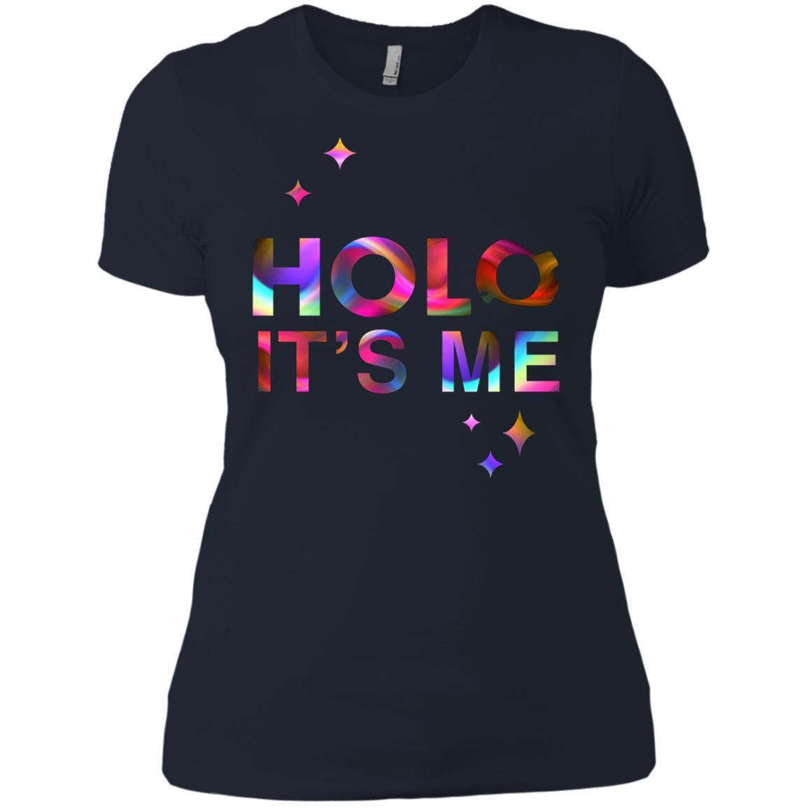 Holo It's Me - Ladies' Boyfriend T-Shirt Midnight Navy / 3XL