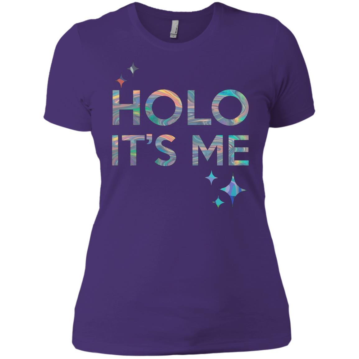 Holo It's Me - Ladies' Boyfriend T-Shirt Purple Rush/ / 3XL