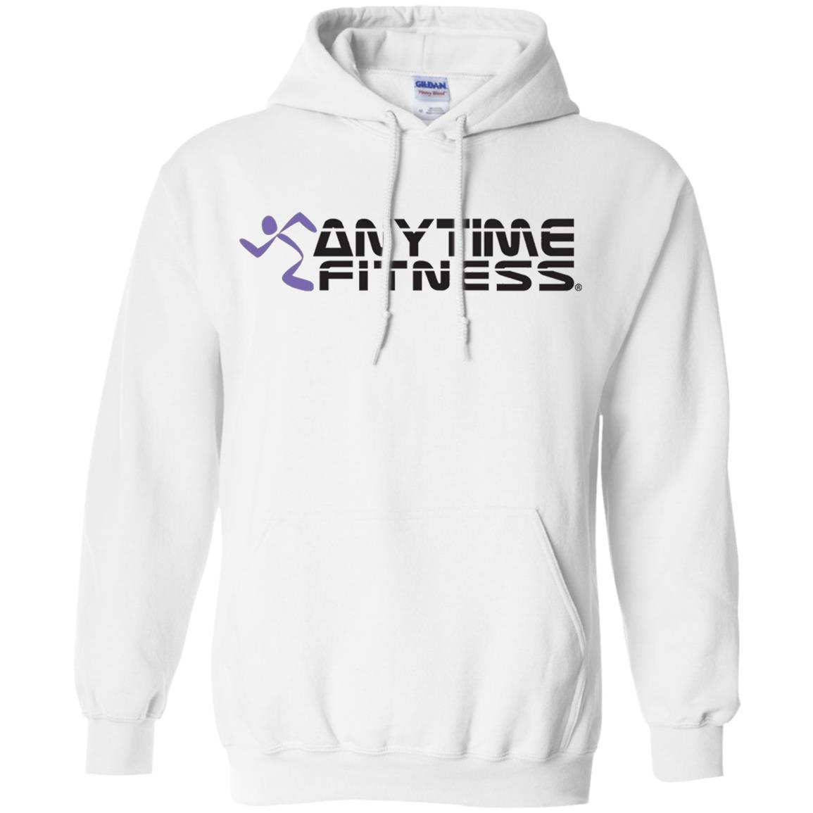 Anytime Fitness Logo - Pullover Hoodie White / 5XL