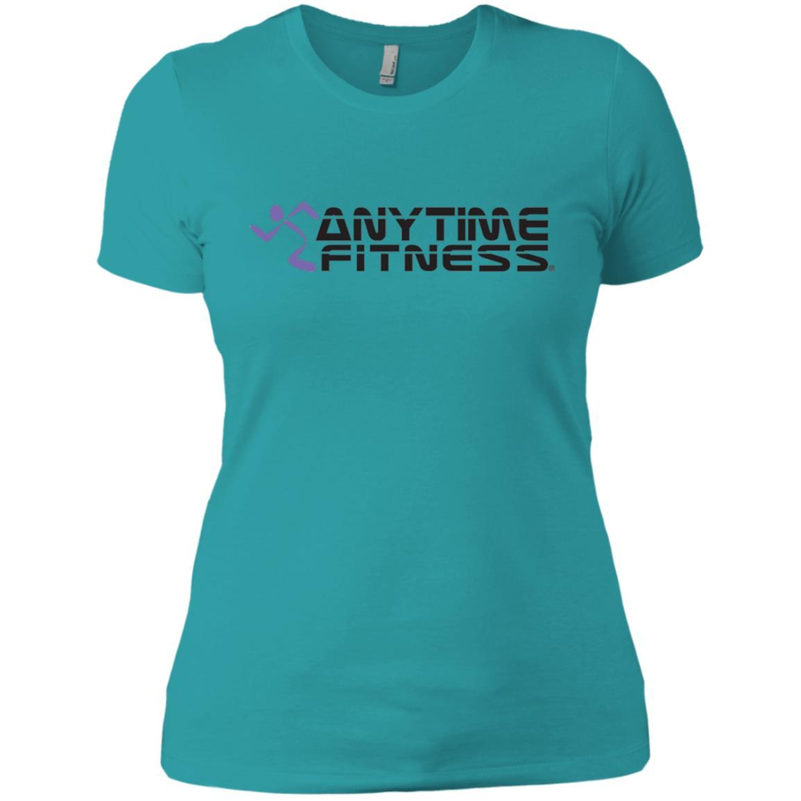 Anytime Fitness Logo - Ladies' Boyfriend T-Shirt Tahiti Blue / 3XL