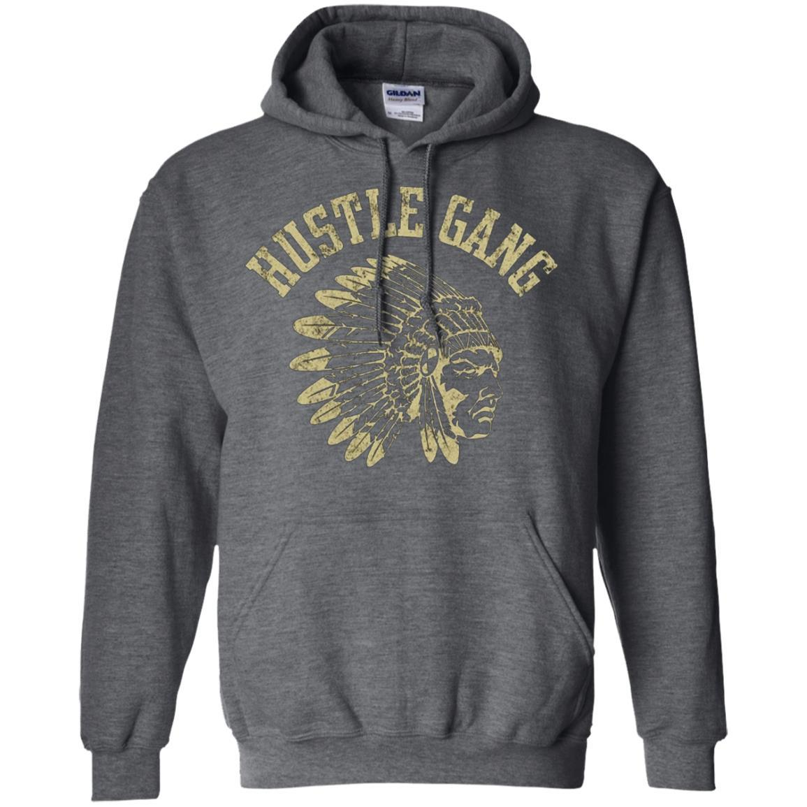 Hustle Gang - Pullover Hoodie Dark Heather / 5XL