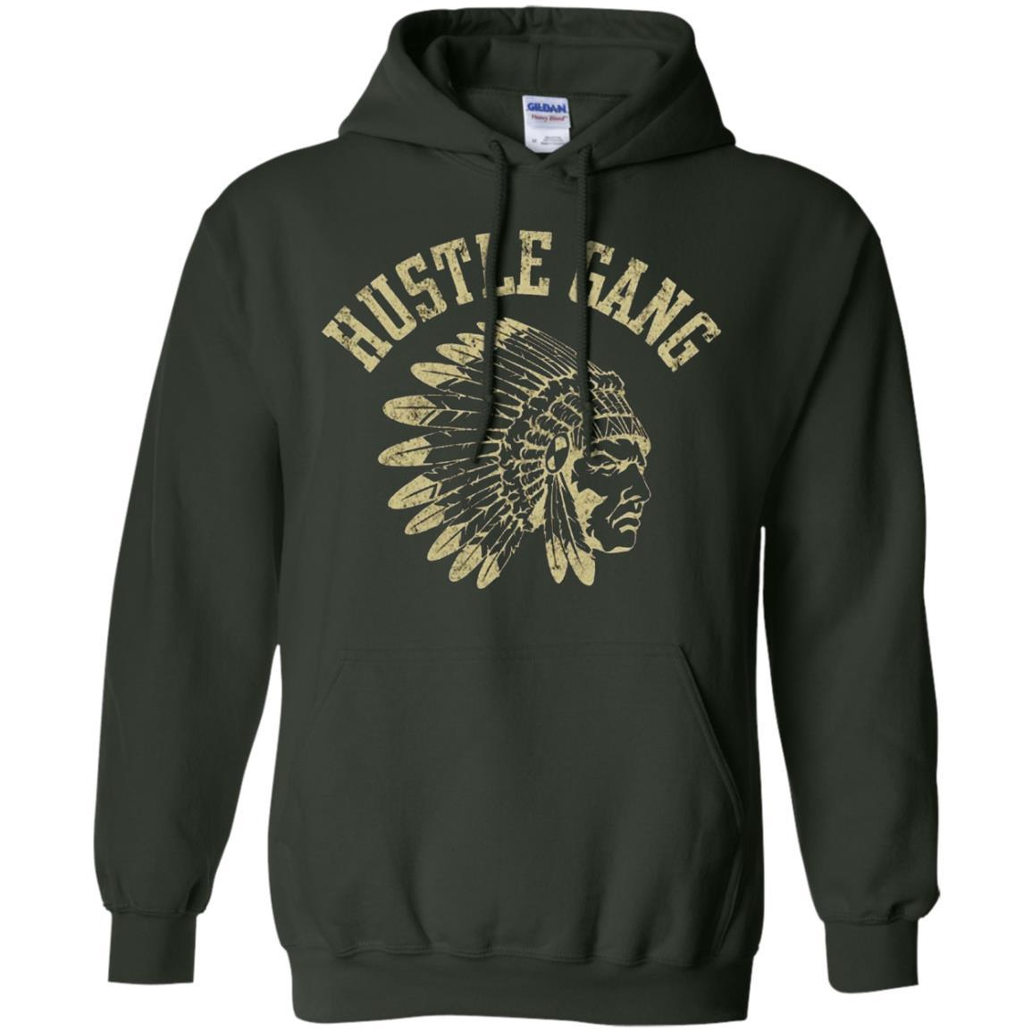 Hustle Gang - Pullover Hoodie Forest Green / 5XL